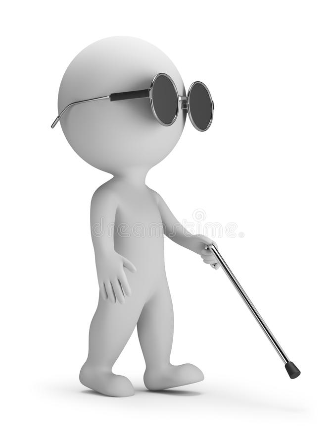 3d small people - blind stock illustration