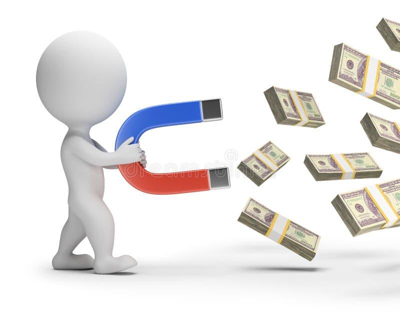 Download 3d Small People - Money Magnet Stock Illustration - Illustration: 73421823