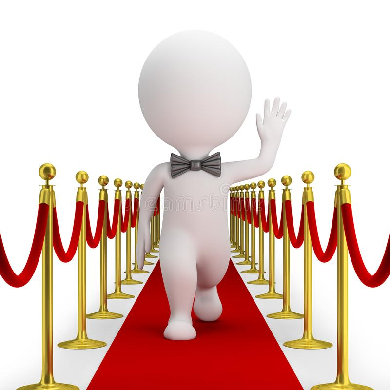 3d small people - red carpet royalty free illustration