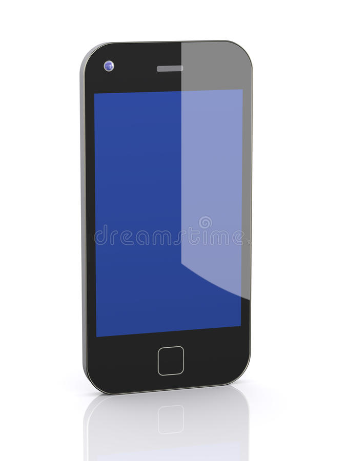 3d smart mobile phone royalty free illustration
