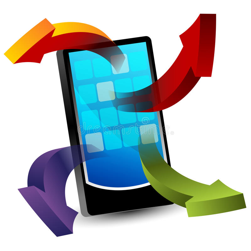 3d Smartphone Apps illustration libre de droits