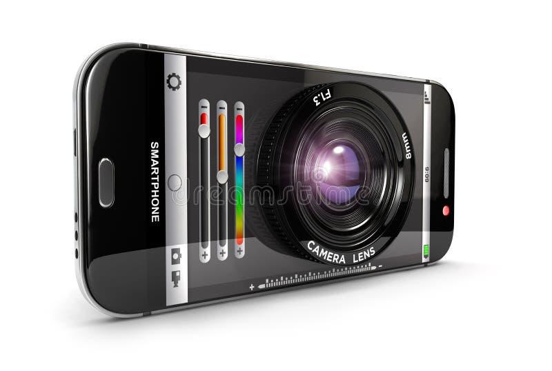 3d Smartphone-camera vector illustratie
