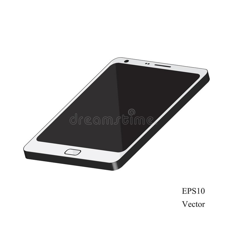 3D smartphone isolated on white background. Is a general illustration vector illustration