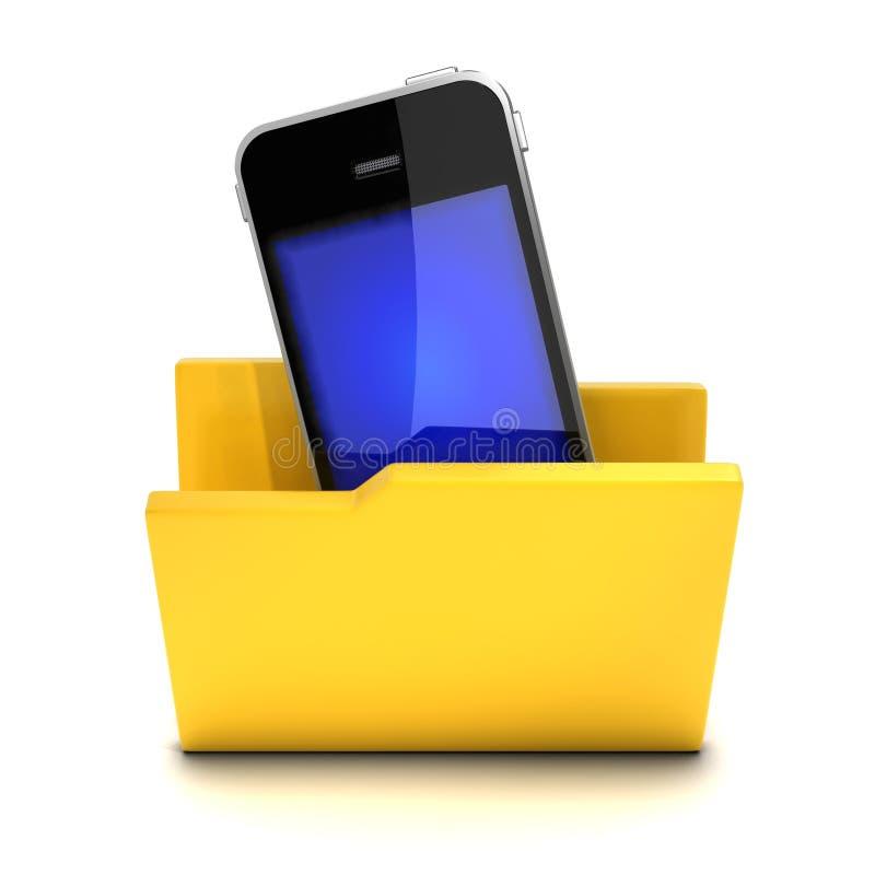 3d Smartphone w falcówce ilustracji