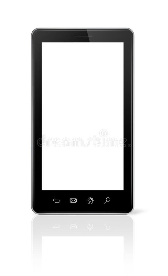 Download 3D smartphone  on white stock illustration. Image of clipping - 33688214