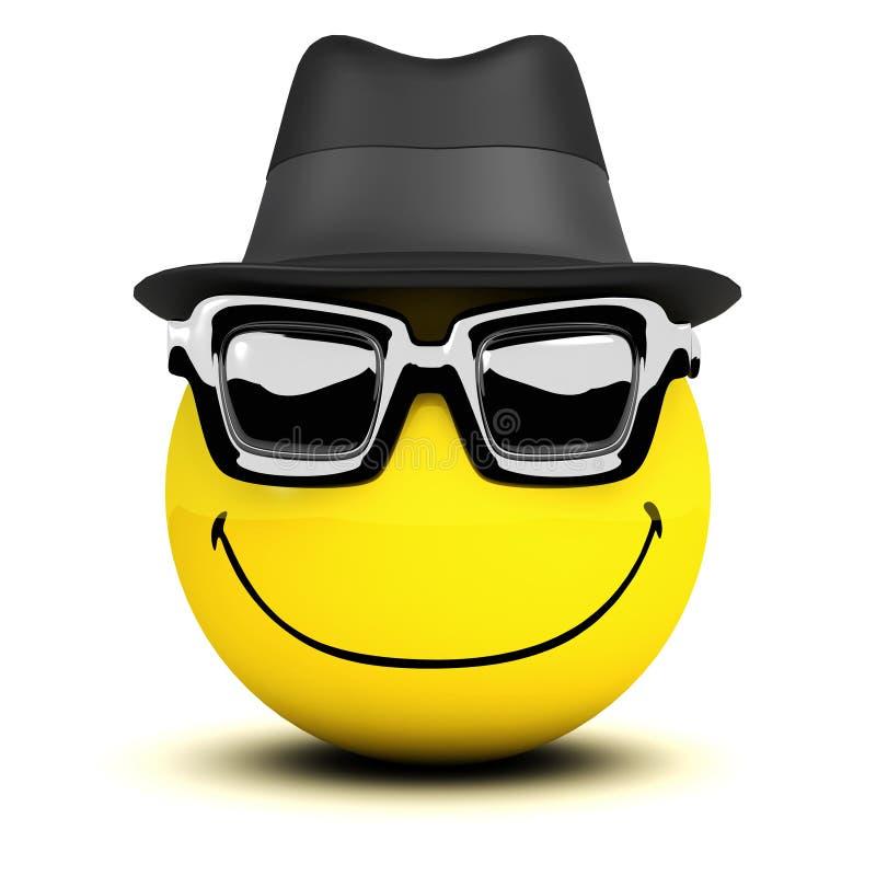 3d Smiley-kerel stock illustratie