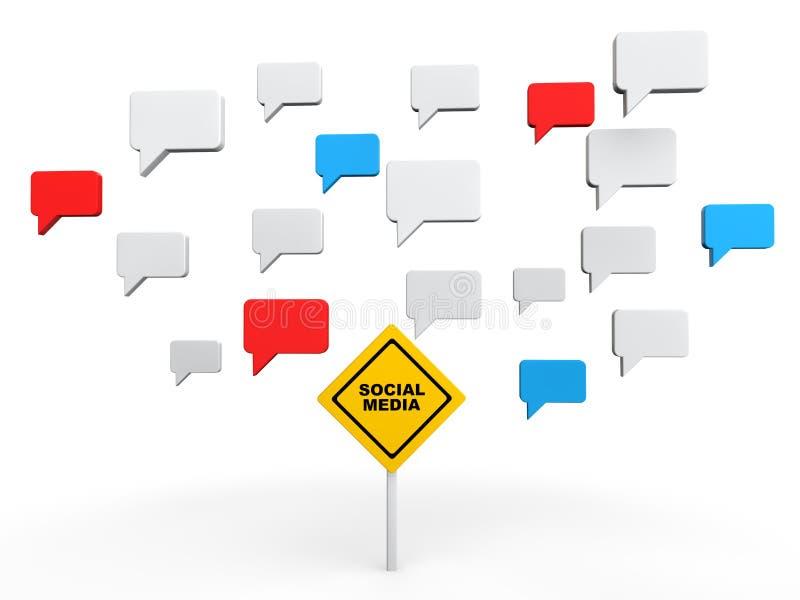 3d Sociaal media besprekingsconcept royalty-vrije illustratie
