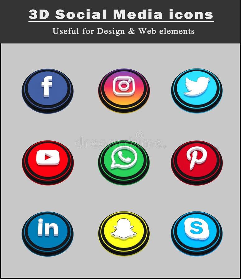 3d Social Media Icon Png | www.pixshark.com - Images ...