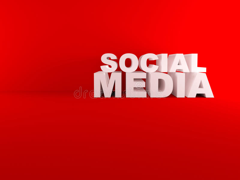 Download 3D Social Media Text Isolated Red Room Stock Illustration - Image: 33168102