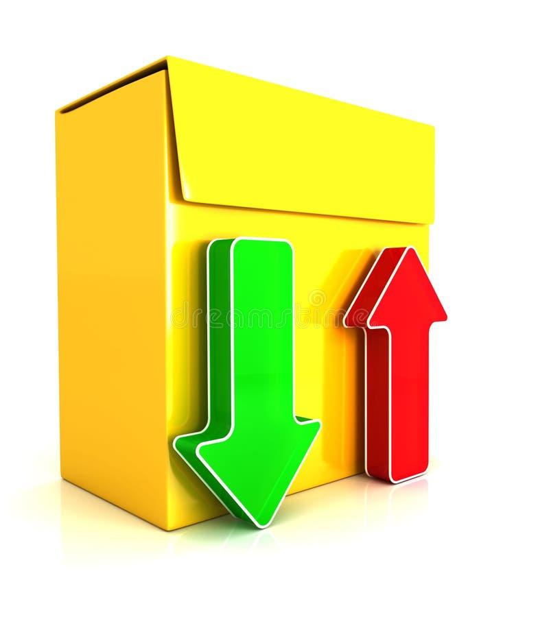 3d software box stock illustration