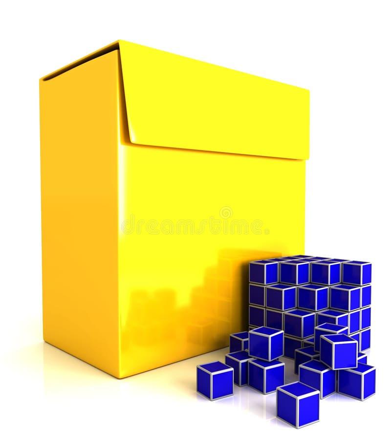3d software box vector illustration