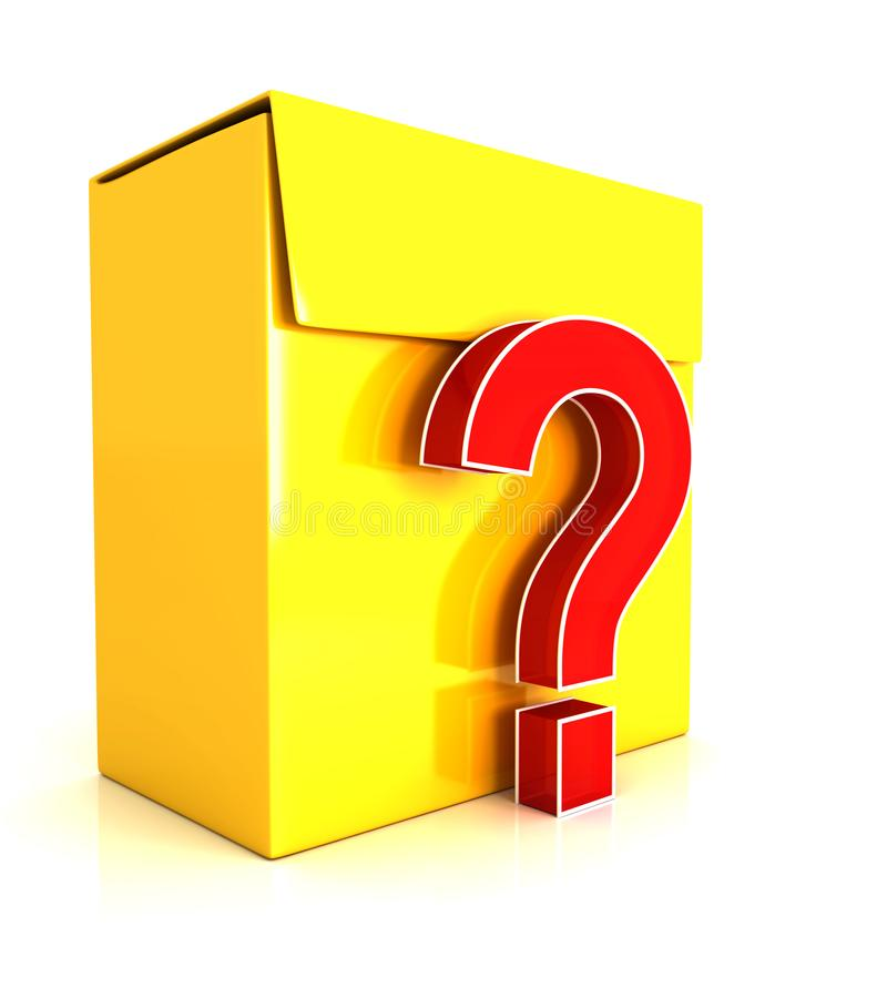 3d software box - question mark stock illustration