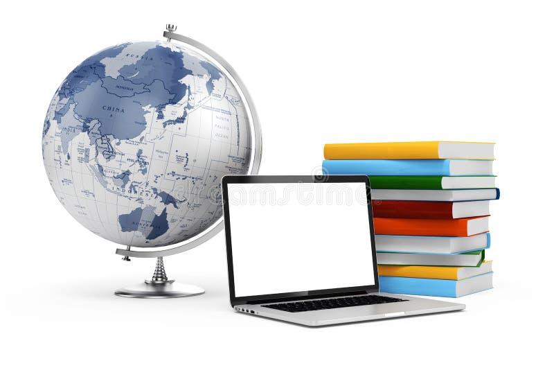 3d som e-lär, och utbildningsbegrepp stock illustrationer