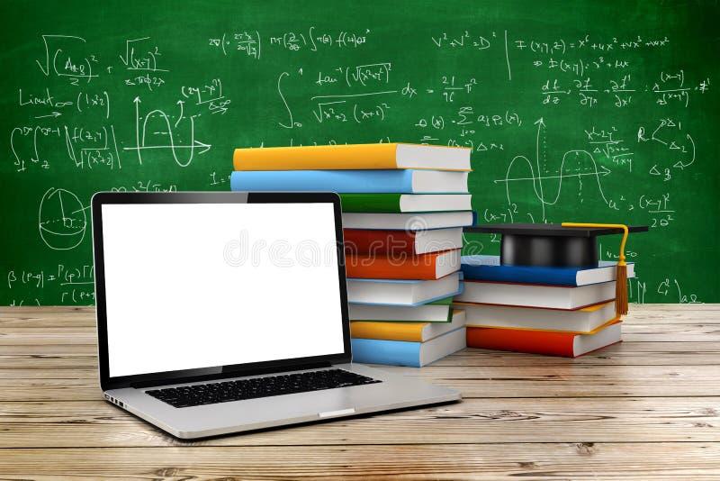 3d som e-lär, och utbildningsbegrepp vektor illustrationer