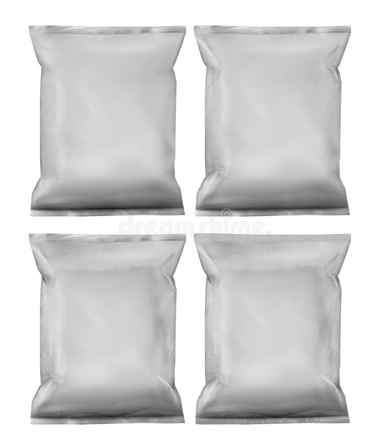 3d som förpackar vanliga vita packar stock illustrationer