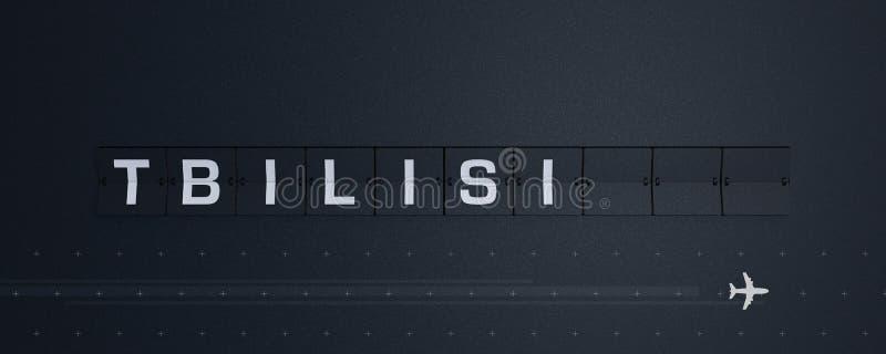 3D som framför Flip Board Capital tbilisi stock illustrationer