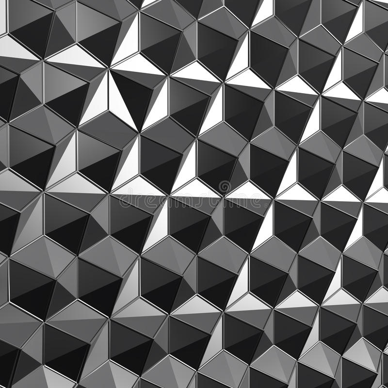 3d som framför låg poly polygonal yttersida grå stock illustrationer