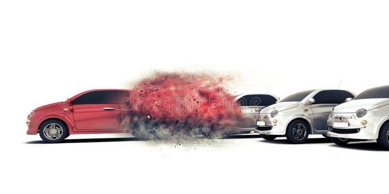 3D som rusar bilbegrepp royaltyfri illustrationer