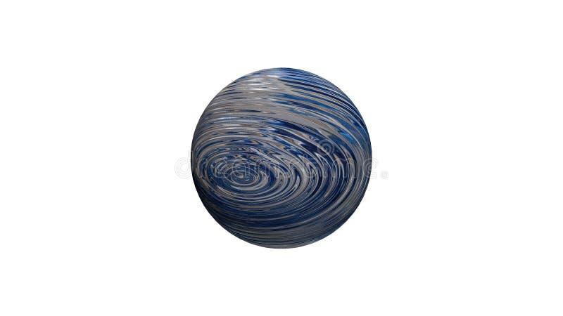 3D soustraient l'image de la planète, des mers et des océans de la terre de planète image stock