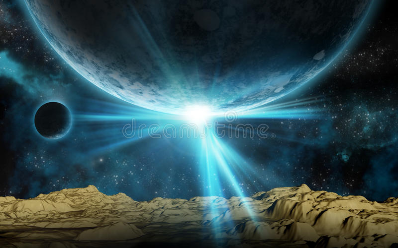 3D space background stock illustration
