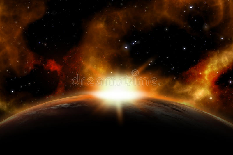 3D space background royalty free illustration