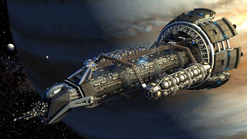 3D Spaceshuttle ilustracja royalty ilustracja