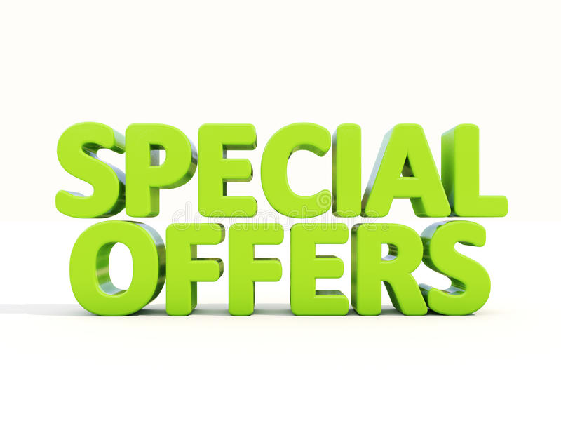 3d Special Offers Stock Illustration