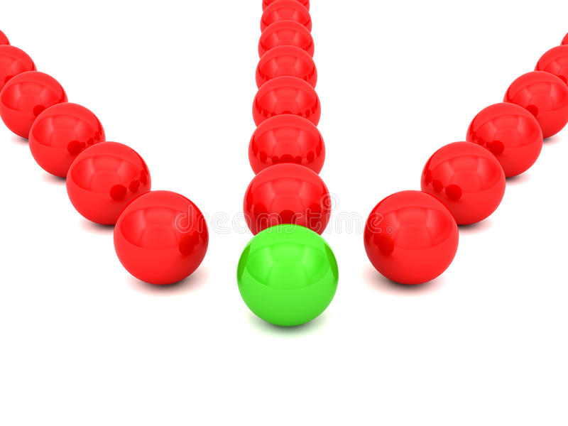 3D sphères - concept illustration stock