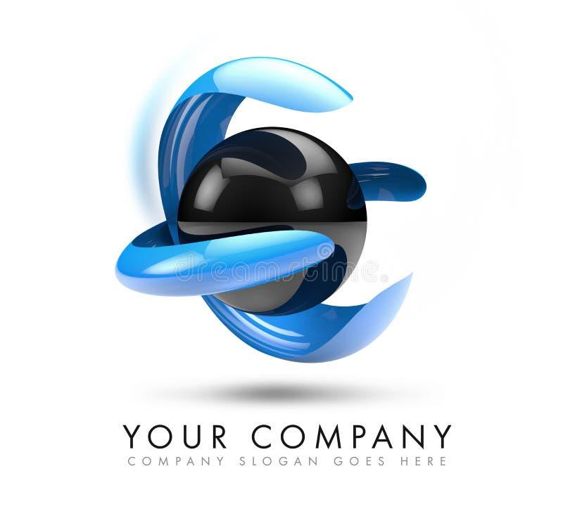 Download 3D Sphere Logo stock illustration. Image of symbol, logotype - 41240244