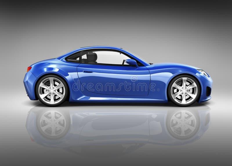 3D sportów Luksusowy Błękitny samochód ilustracji
