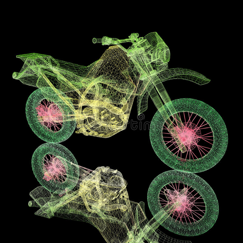 3d sport motocross bike. 3d render sport motocross bike vector illustration