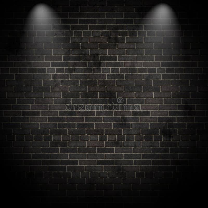 3d spotlights on a grunge brick wall stock illustration for Esteban paredes wallpaper hd
