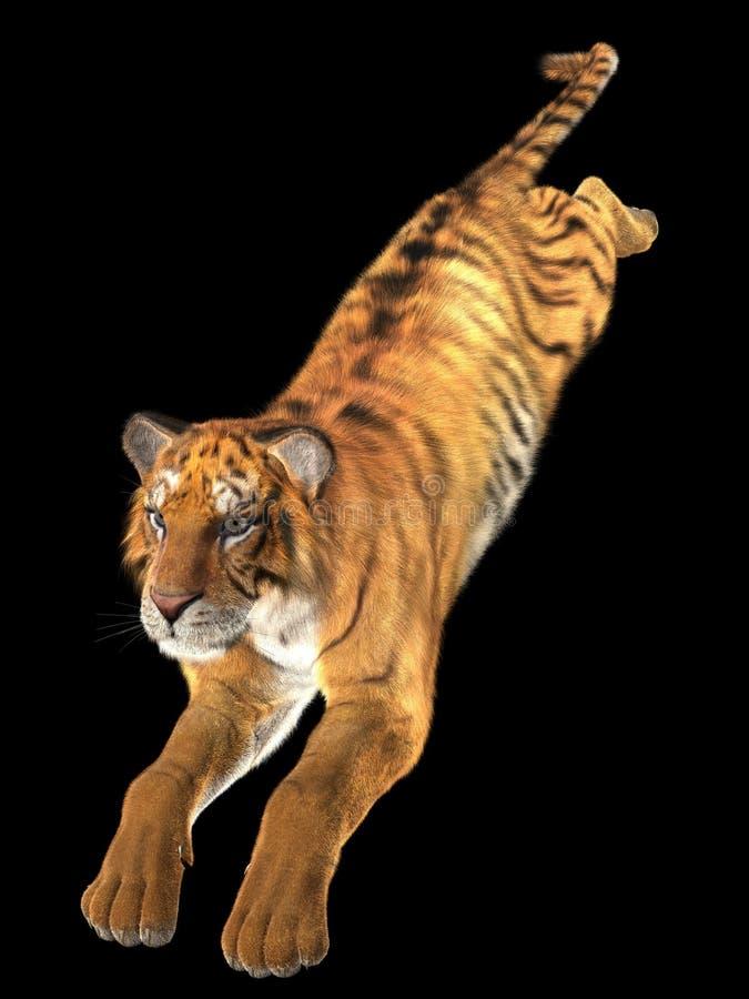 3D springende tijger royalty-vrije stock fotografie