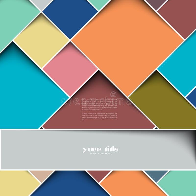 3d square design template vector illustration