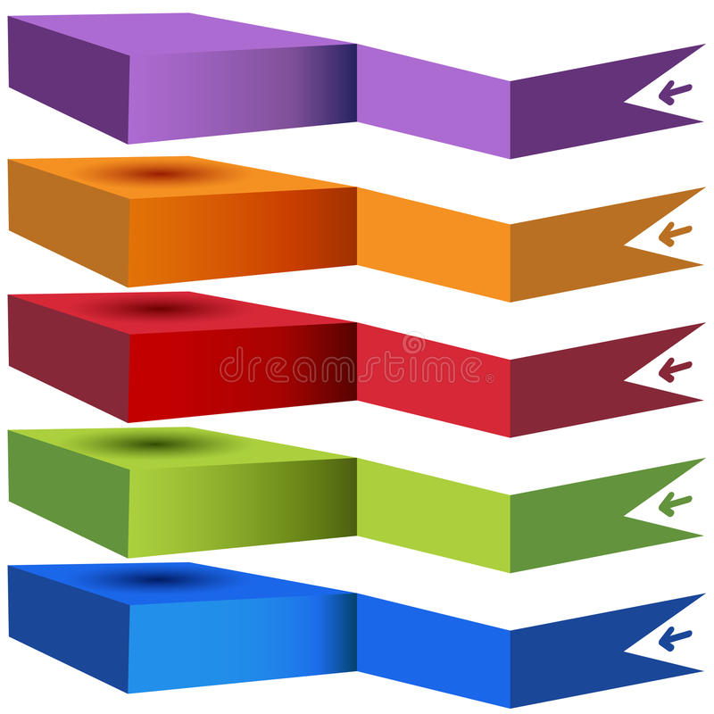 3D Stacked Category Chart vector illustration