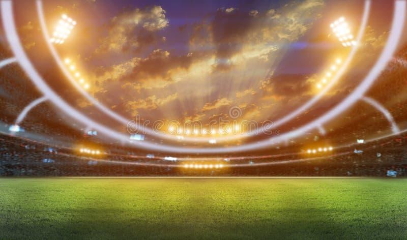 3d stadionflitsen stock afbeelding