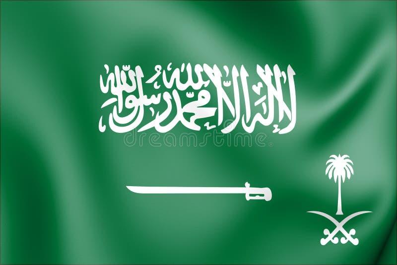 3D Standard reale del principe ereditario dell'Arabia Saudita illustrazione vettoriale