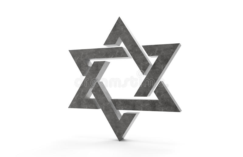 3D star of David. On a white background stock illustration