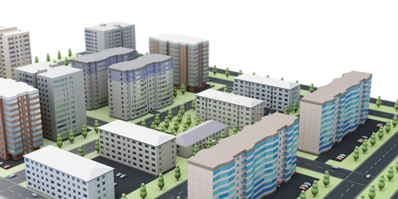 3d stedelijk landschap stock foto