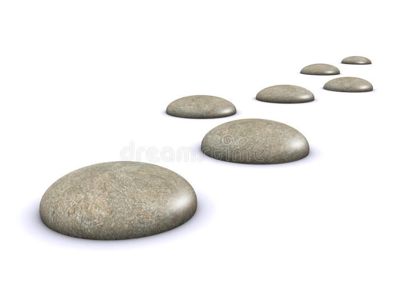 3d Stepping stones vector illustration