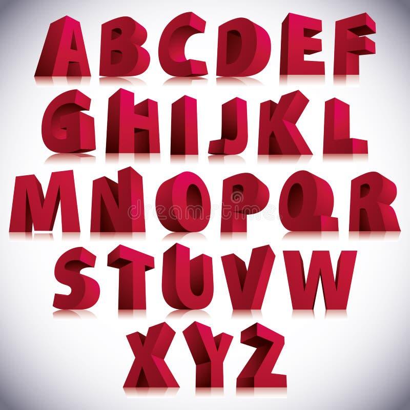 3D stilsort, stort rött stå för bokstäver fotografering för bildbyråer