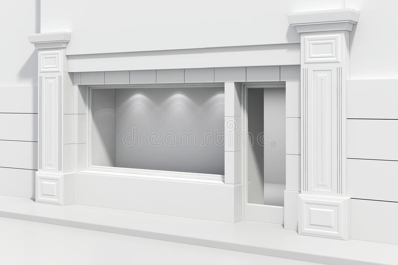 3d store shopfront. With big windows vector illustration
