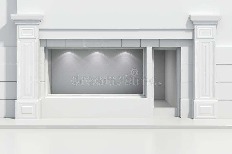 3d store shopfront. With big windows royalty free illustration