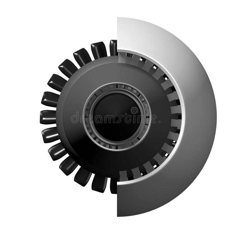 3D straalmotor - achtermening stock illustratie