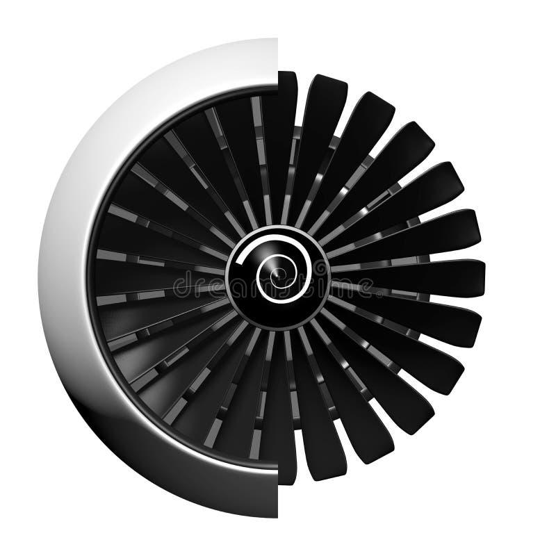 3D straalmotor - vooraanzicht vector illustratie