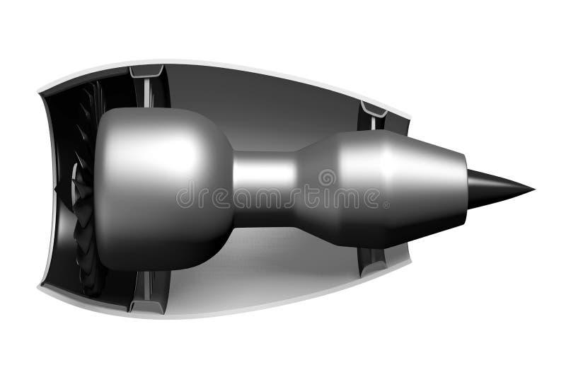 3D straalmotor - zijaanzicht vector illustratie