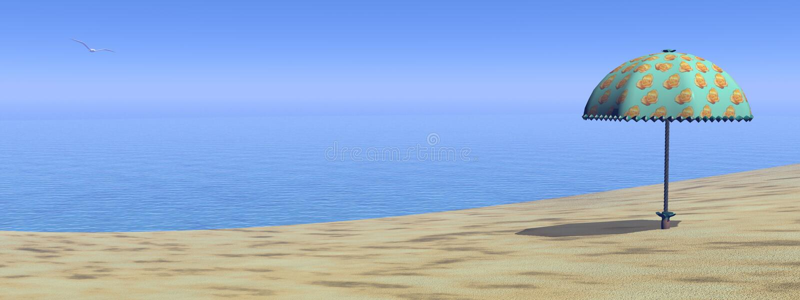 3D strand - geef terug stock illustratie
