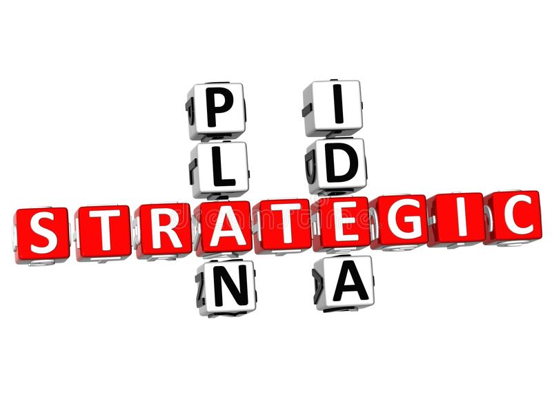 3D Strategic Plan Idea Crossword royalty free illustration