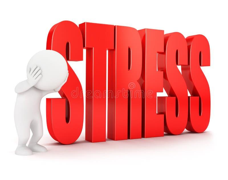 3d stresu biali ludzie ilustracji