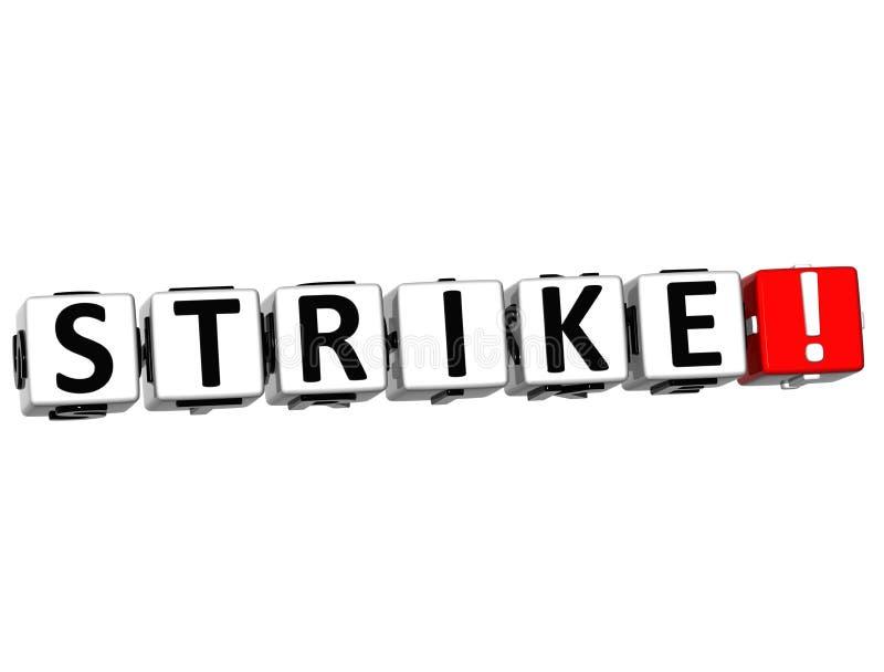 3D Strike Crossword royalty free illustration